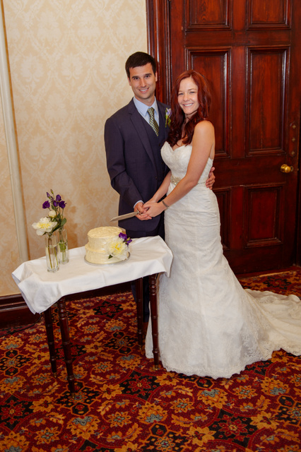 Love in Killarney couple cutting cake