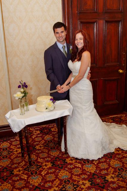 Love in Killarney couple cutting cake