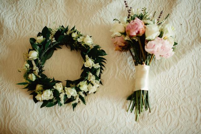floral wedding head wreath