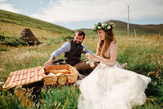 wedding day picnic Ireland