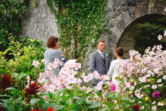 garden wedding Ireland elopement elope Ireland