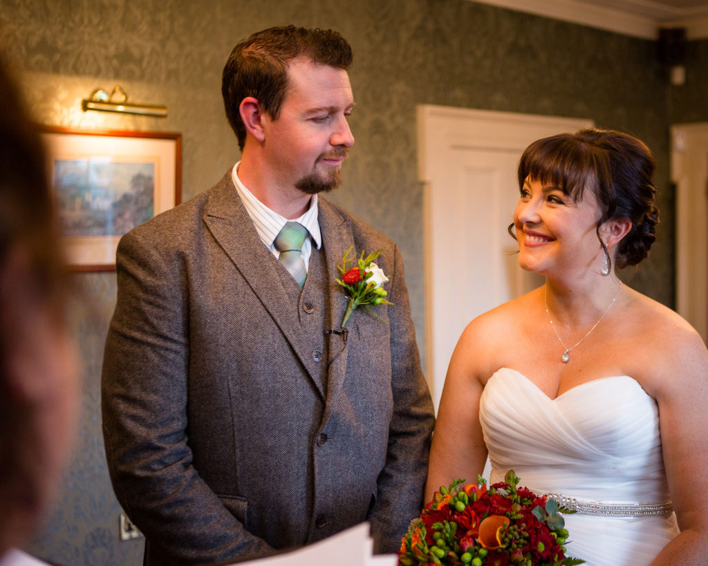 Medieval elopement Carlingford couple meeting at the alter