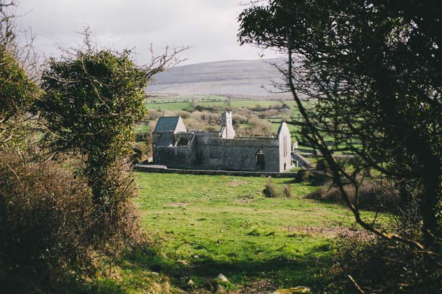 Abbey ruins elopement Ireland