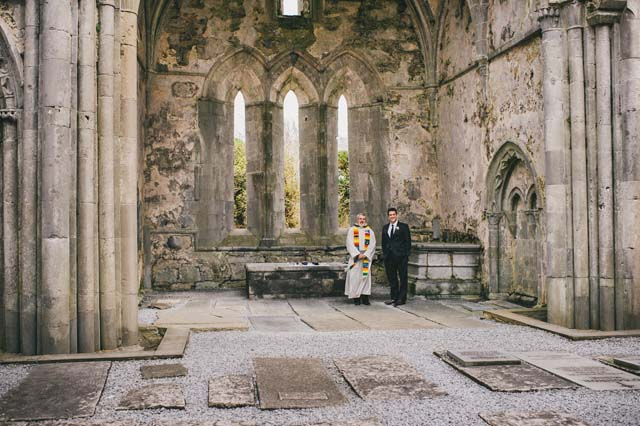 Abbey ruins wedding Ireland