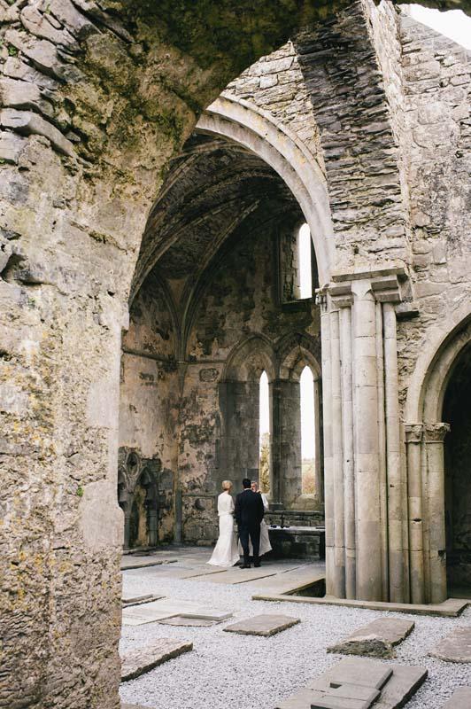 Historic Abbey Ruins wedding Eloping to Ireland