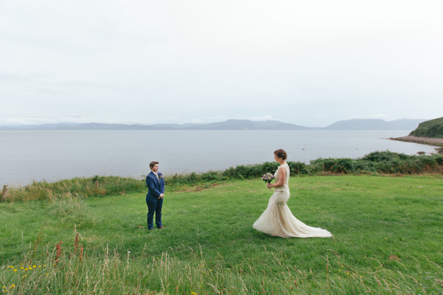 Irish seaside elopement Destination elopement wedding Ireland