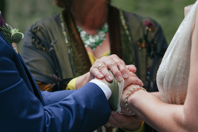 irish hand fasting ceremony Destination elopement wedding Ireland tying the knot