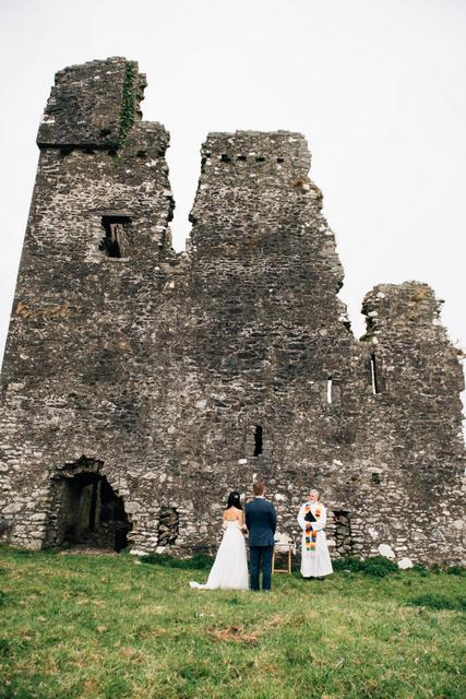 Irish Castle ruins elopement
