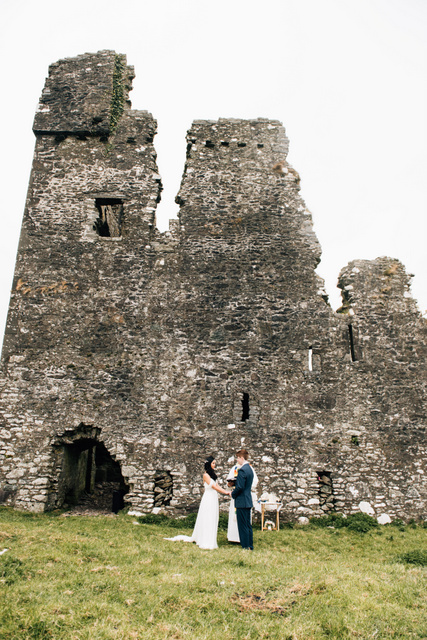 outdoor castle wedding Ireland Elope to Ireland