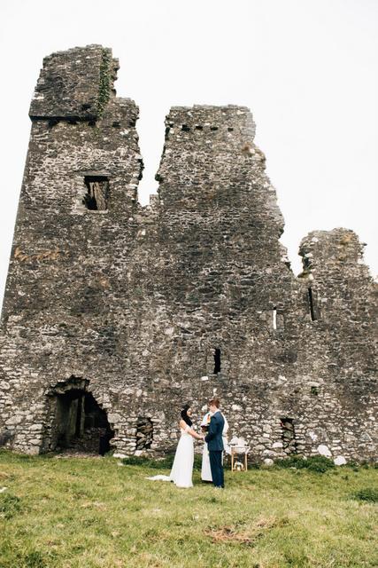 outdoor castle wedding Ireland Elope to Ireland