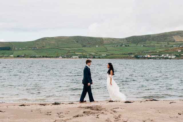 Ireland beach wedding