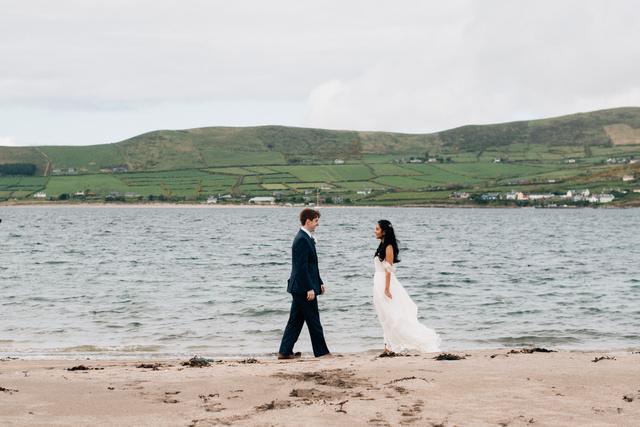 Ireland beach wedding