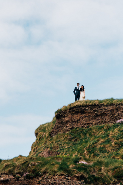 Cliff wedding Ireland Elope to Ireland