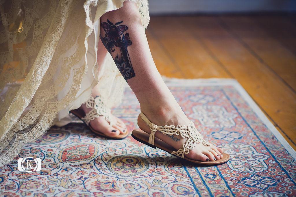 tatoo bride Elope to Ireland