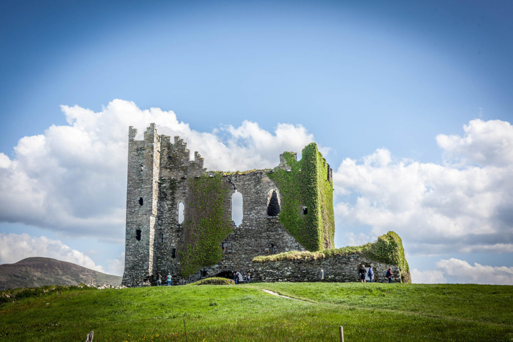 elope to ireland Ballycarbery Castle wild atlantic way