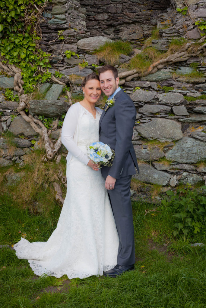 elope to ireland the married couple after the ceremony
