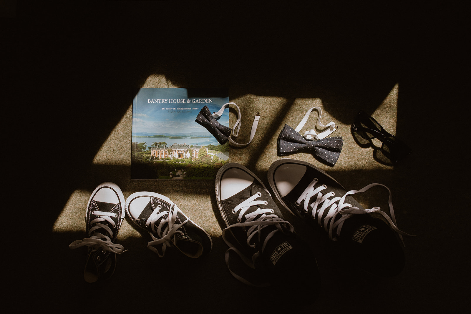 Celtic Ruins and Bantry House Elopement Converse tennis shoes