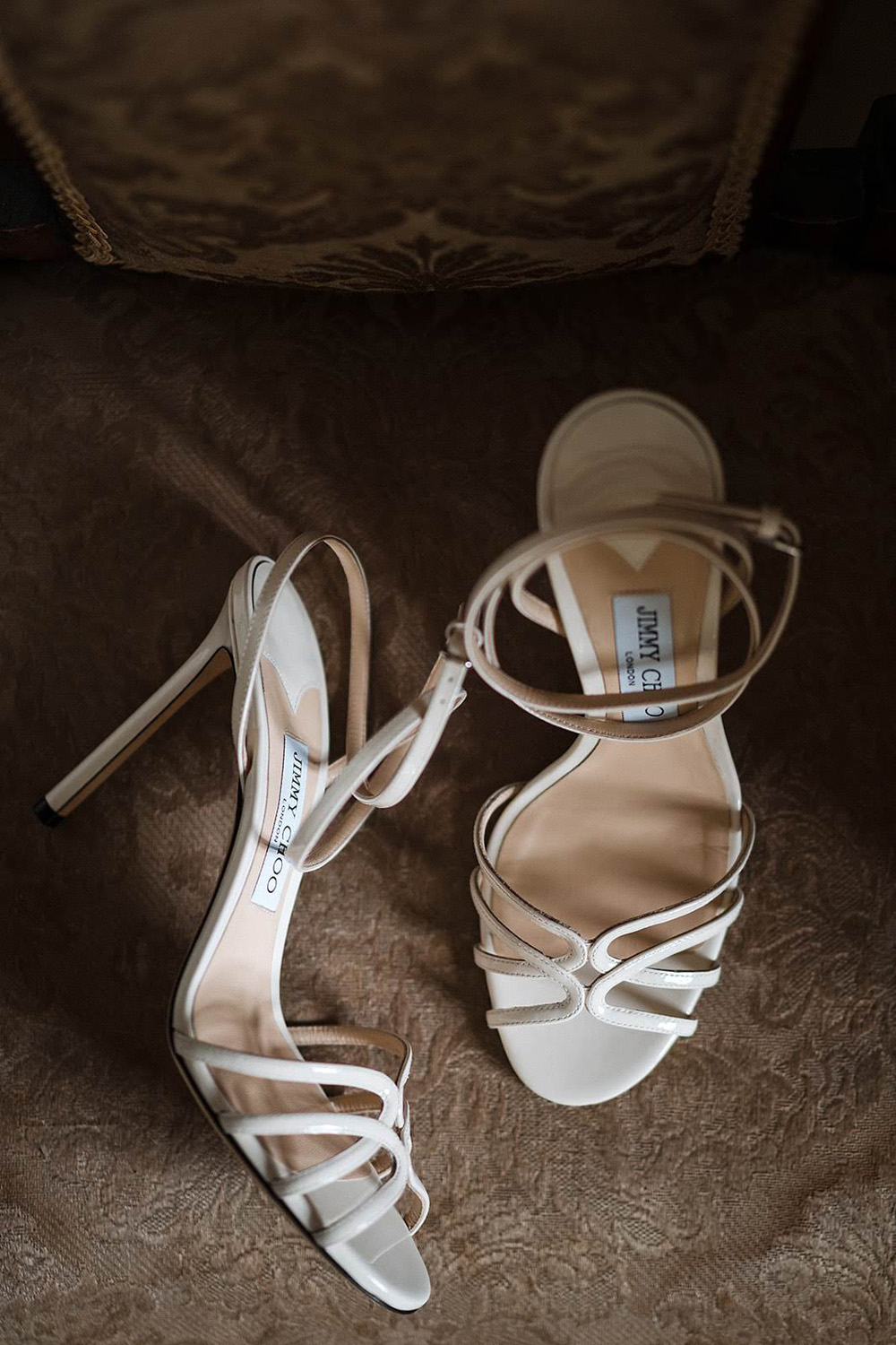 Castle elopement wedding shoes
