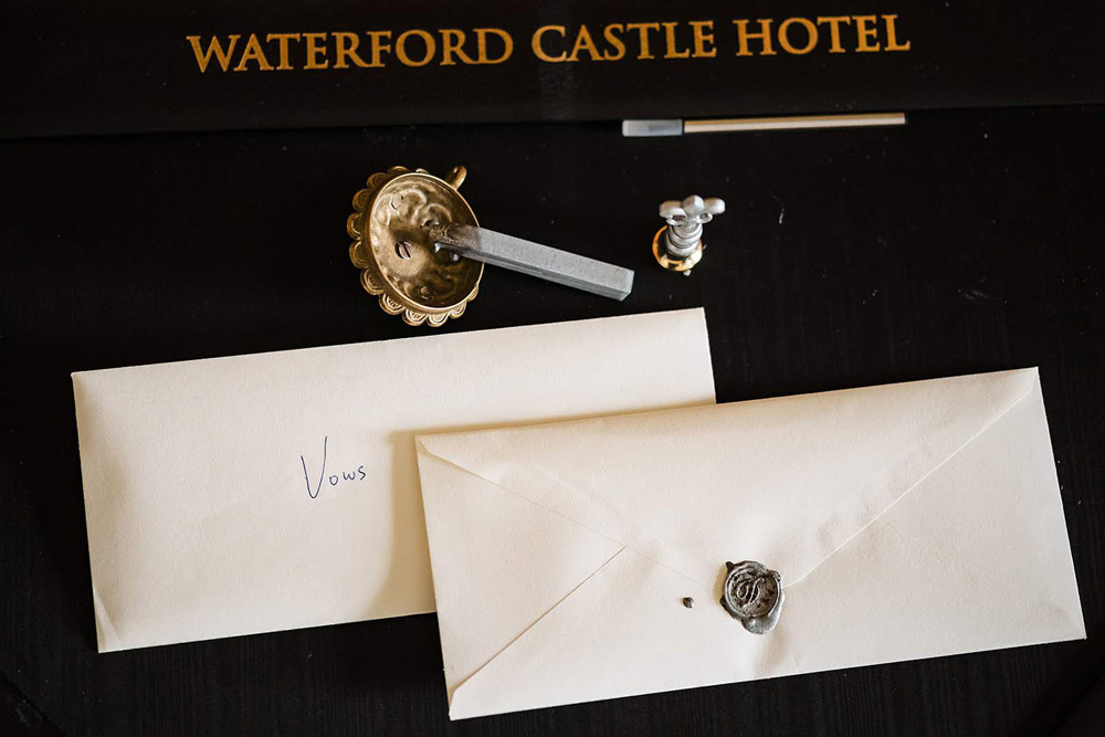 Castle elopement wedding vows